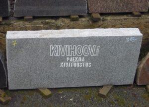 Nr. 7, mõõt 85x40x10 cm  Soome Kuru hall