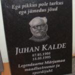 Juhan Kalde mälestuseks