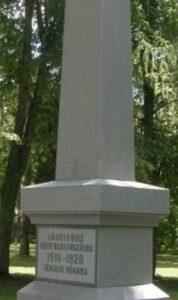 Vändras Kirikumäel Vabadussõjas langenuile pühendatud mälestussammas